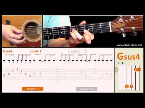 Jouer Angie (The Rolling Stones) - Cours guitare. Tuto + Tab