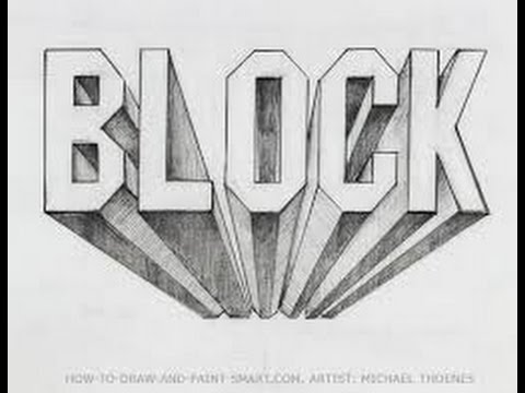 How To Draw Block Letters In 3D
