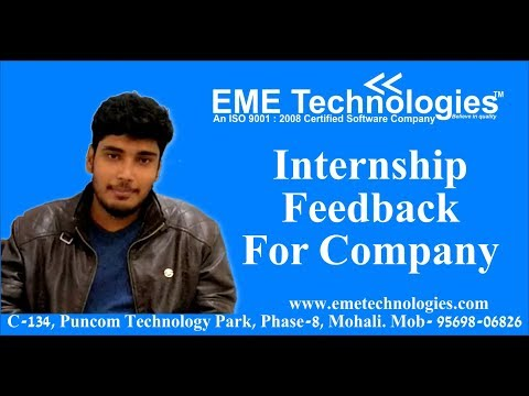 GGS College Student Feedback : Internship Feedback By Student For Company   EME Technologies