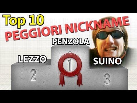 Top 10 peggiori nickname del mondo!