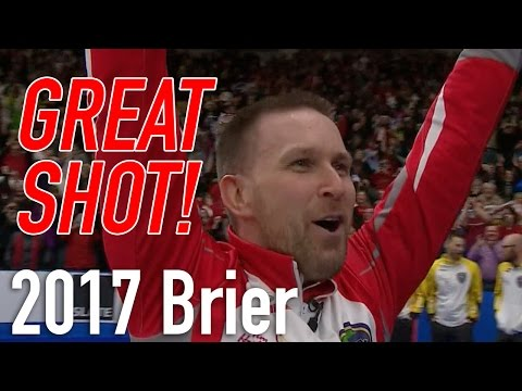 2017 Tim Hortons Brier - Brad Gushue - Last rock to win
