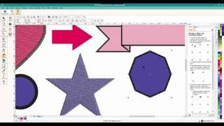 Corel Draw x6 and Hatch, Janome MBX V5 and Berninia Embroidery software