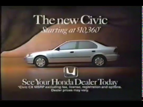 Honda Civic Commercial >> Honda Commercial Civic 1995 Youtube
