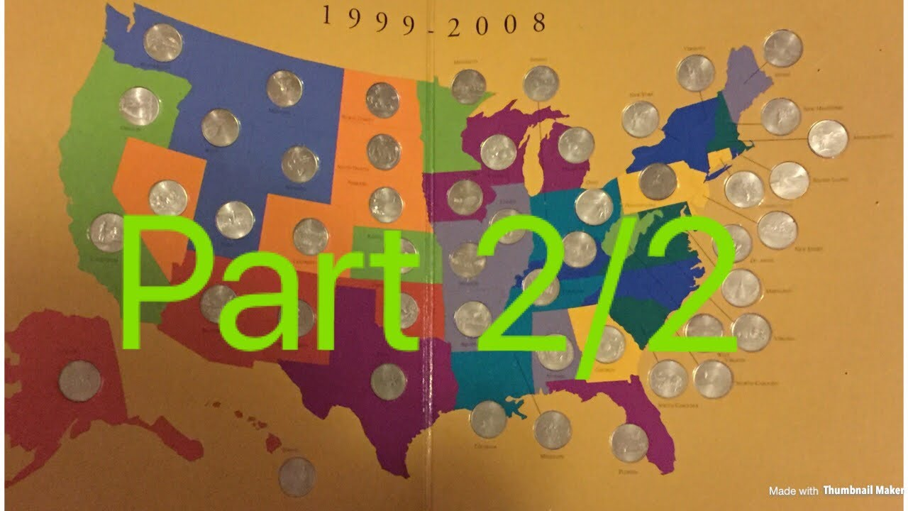First State Quarters Of The United States Collector\'s Map (Part 2 ...