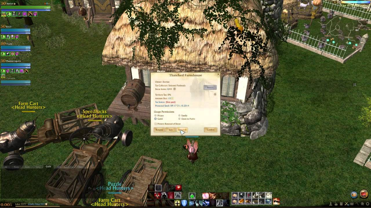 Archeage My Thatched Farm House - YouTube for Thatched Farmhouse Archeage  585hul