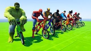 Spiderman, hulk, batman, superman, goku and other superheroes in Fu...