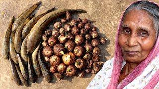Shol, Latha & Koi Fish with Kachu Recipe | Grandmother Recipe | Indian Village Style Cooking