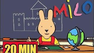 20 MINUTES de Milo le lapin ☆ Milo s'amuse à l'école ☆ Compilation n°3