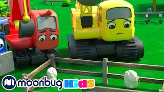 Windy Day at the Farm - Save the Sheep   @Digley and Dazey - Trucks For Kids   Song   MOONBUG KIDS
