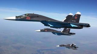 Атака Российских ВКС на склады боеприпасов террористов в Сирии