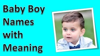 Baby Boy Names with Meaning in Hindu
