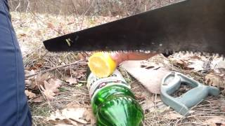 Как правильно резать лимон в лесу)))