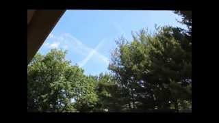 Chemtrails- Double X Over My House
