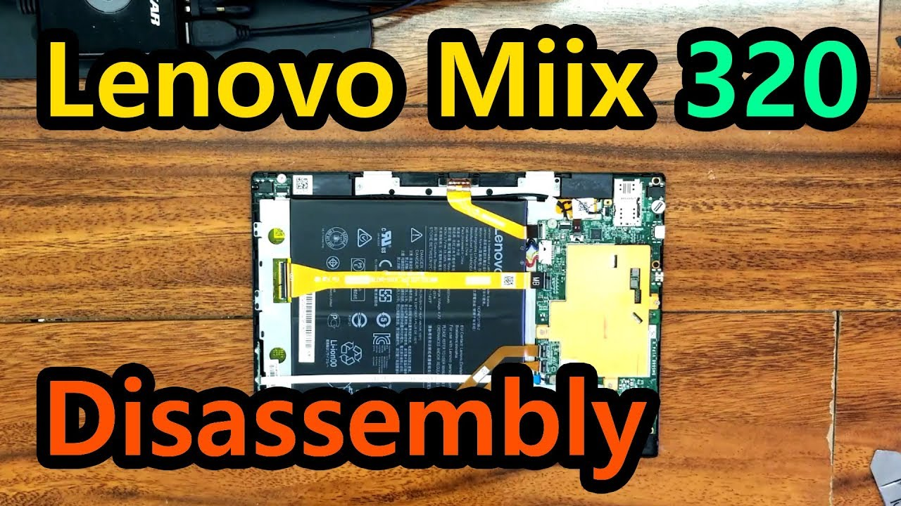 Lenovo Ideapad MIIX 300 Disassembly Videos - Waoweo