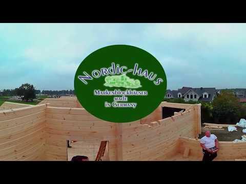 Nordic Haus Blockhaus - Richtmeistermontage in 360° Grad VR
