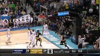 Michigan vs. Notre Dame: Moritz Wagner layup