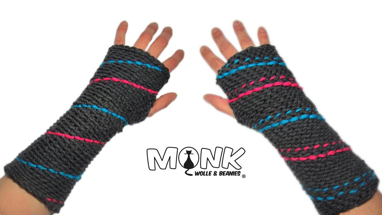 Spiral Handstulpen / Pulswärmer - Bosnisch häkeln - spiral wrist ...