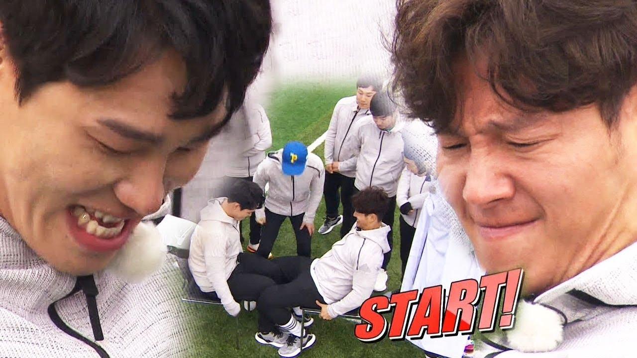 윤성빈 VS 김종국, 역대급 허벅지 씨름 '승자는' 《Running Man》런닝맨 EP526