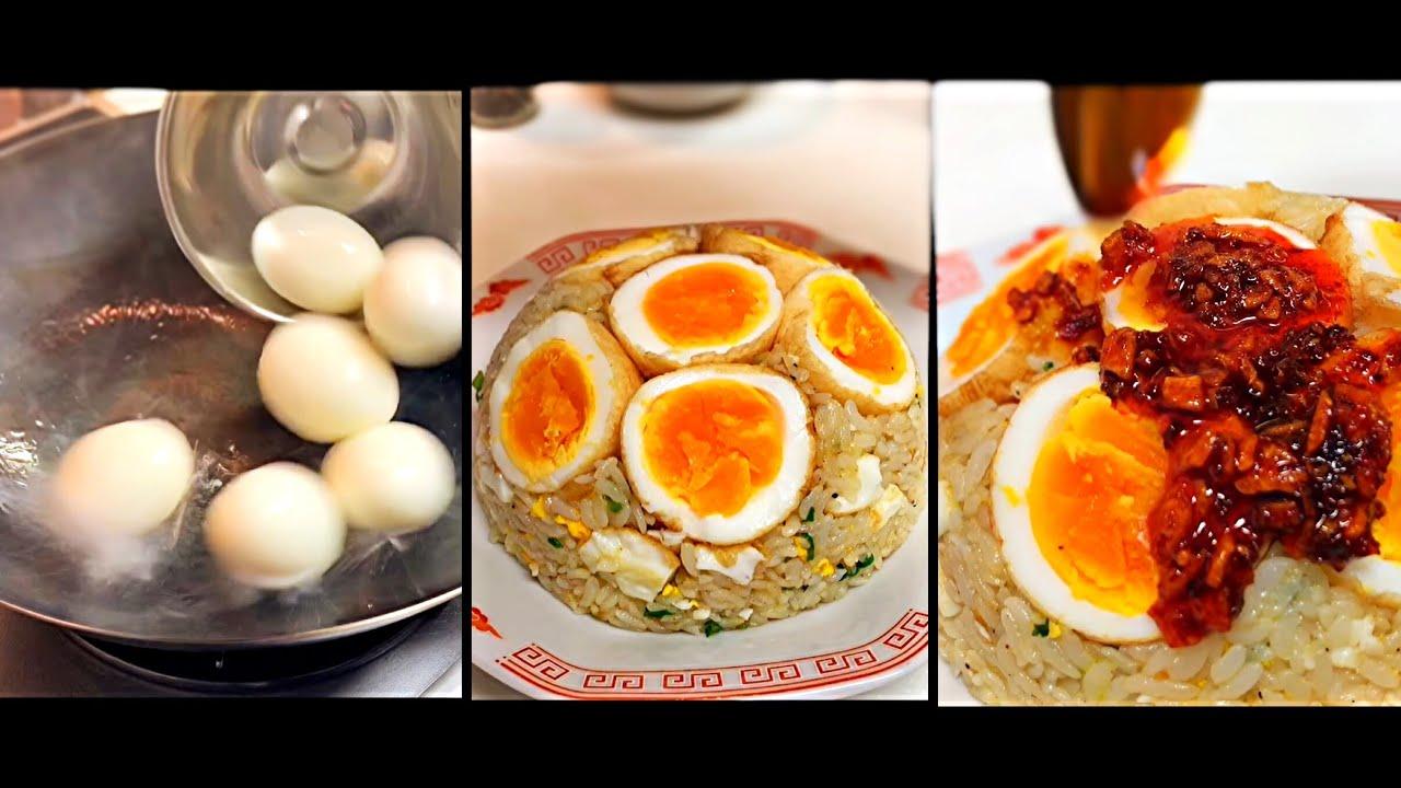 ゆで卵でチャーハン作ったらうまいか試してみた /Boiled egg fried rice