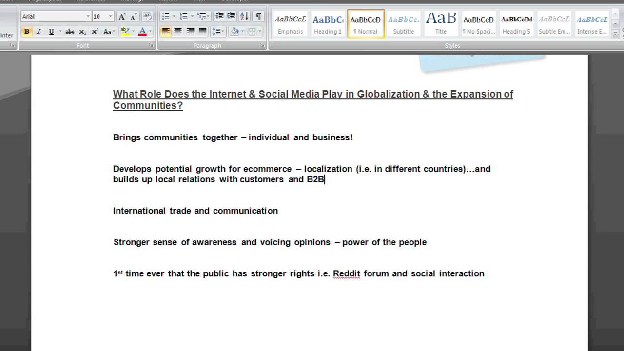 role of media in globalisation