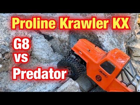 Proline Crawler Tire Test G8 vs Predator with the Axial Superlite