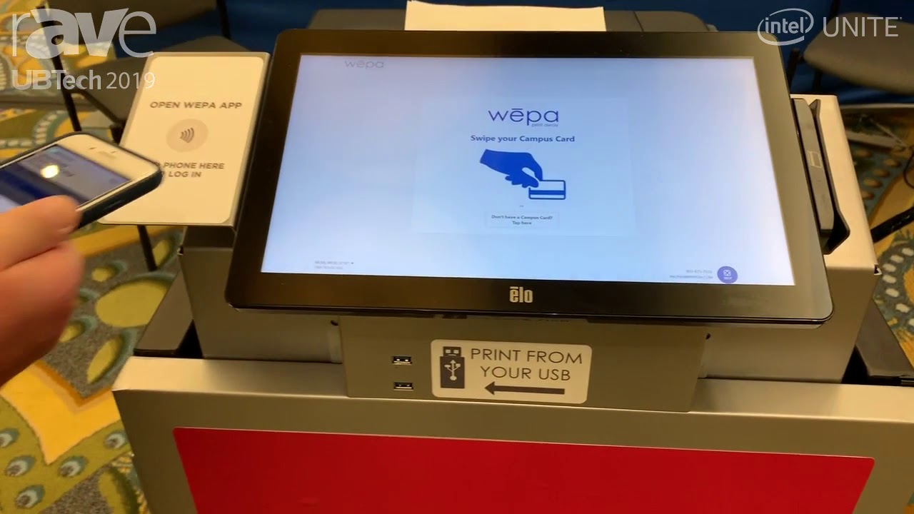 UB Tech 2019: Wepa Shows Kiosk Printer for Students With Easy Mobile Device  Access
