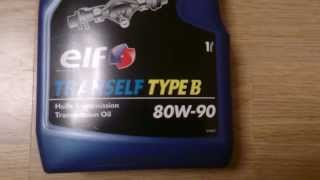 Трансмиссионное масло Elf Tranself TYPE B 80W-90. Обзор.