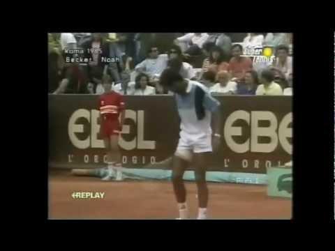 Yannick Noah vs Boris Becker 1985 Italian Open