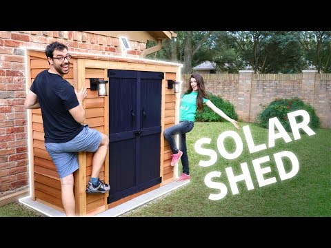 DIY Customized Shed (w/ Solar Lights!)
