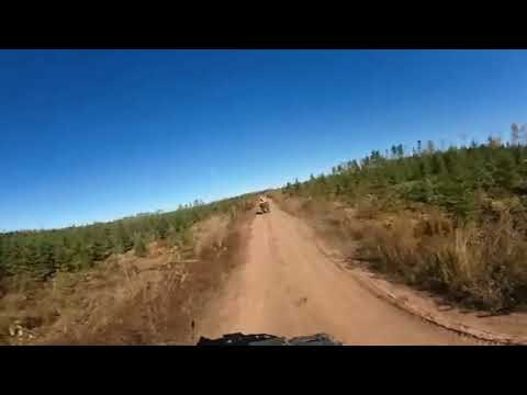 Atv ride on the Post road near Rusagonis, New Brunswick, Canada