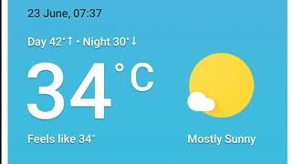 Kuwait weather 23.06.2018**