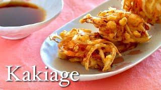 Light and Crispy Kakiage Tempura (Japanese Vegetable Fritters Recipe) | OCHIKERON | Create Eat Happy