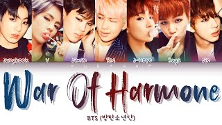 Download BTS (방탄소년단) - War of Hormone (호르몬 전쟁) (Color Coded Lyrics Eng/Rom/Han/가사)