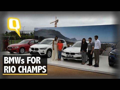 The Quint: Tendulkar Presents BMWs to Dipa Karmakar, PV Sindhu and Sakshi Malik