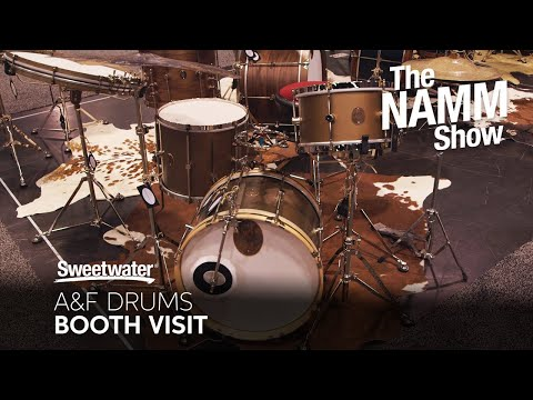 A&F Drum Co. Booth Visit at Winter NAMM 2020