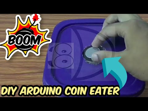 DIY Arduino Coin Eater   Arduino Coin Bank   DIY Arduino Idea