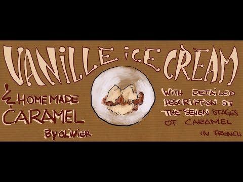 Vanille Ice Cream with homemade caramel  French with Subtitles