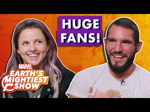 These Pro Wrestlers Are Some of The Biggest Marvel Fans | Earth's Mightiest Show Bonus