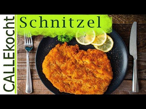 Schnitzel richtig panieren und zubereiten. Das Rezept für Wiener Art