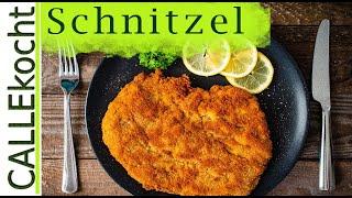 Schnitzel panieren und braten. Das Rezept für Wiener Art
