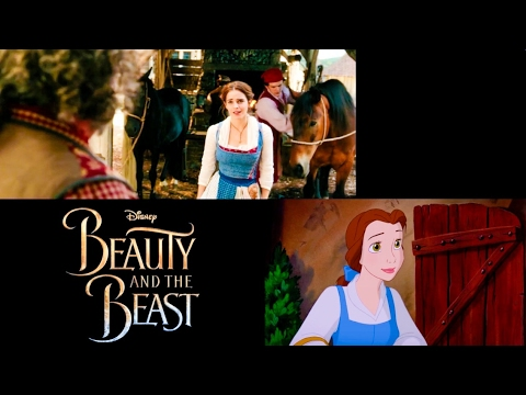"Thumbnail: ""Belle"" Song Disney's Beauty and the Beast Comparison 1991 vs 2017 (Animated vs. Live Action)"