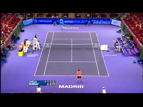 Andy Murray Amazing Passing Shot Madrid Masters 2007