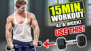 """15 MIN AT HOME DUMBBELL """"FULL BODY"""" WORKOUT! (MY LEGS WENT NUMB!!)"""
