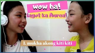WHISPER CHALLENGE   Hahaha!! anu daw??!!   Aurea & Alexa