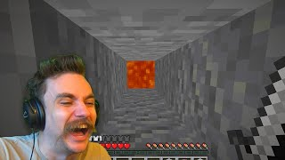 I mined straight DOWN in Minecraft
