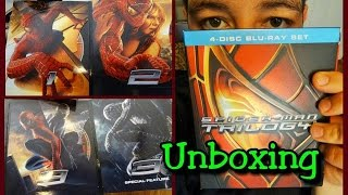 Unboxing Spiderman Trilogy Blu-Ray en Español