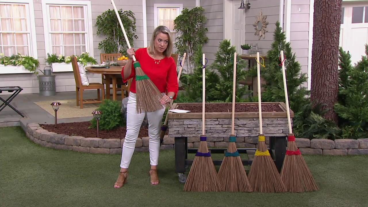 Ultimate Innovations Outdoor Coconut Palms Garden Broom On