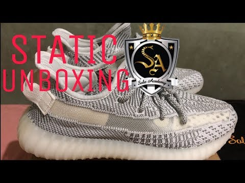 5c2c956a7e8 Adidas Yeezy Boost 350 Static Unboxing from Sole Academy - YouTube