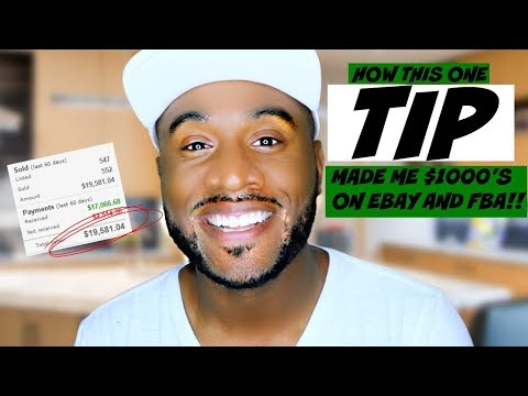 Amazon FBA Tutorial | How This One Tip Earned Me $1000s on Ebay | Fulfillment By Amazon