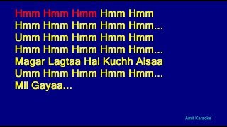 Na Tum Humein Jaano - Hemant Kumar Hindi Full Karaoke with Lyrics